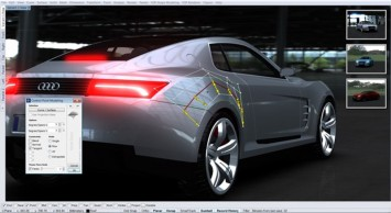 Concept Car 3D modeling in Rhino and VSR - Screenshot