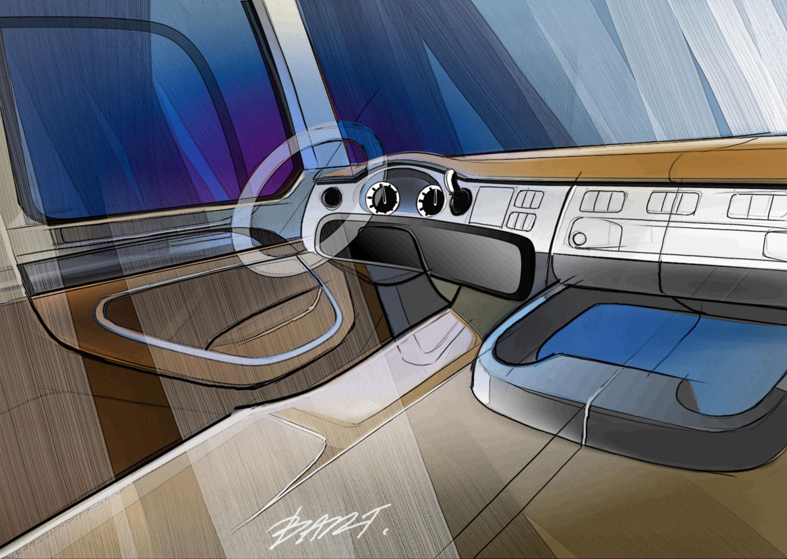 DAF CF Truck - Interior design sketch - Car Body Design