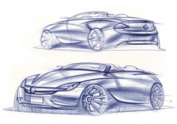 Opel EVE Concept Design Sketches by Vasiliy Kurkov