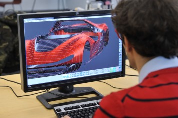 Pininfarina Sergio Concept - 3D Model on Icem Surf - Screenshot