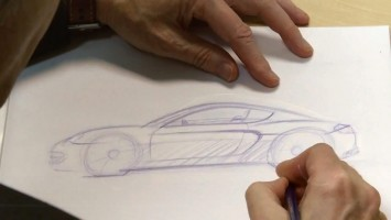 Porsche Cayman design sketching by Tony Hatter