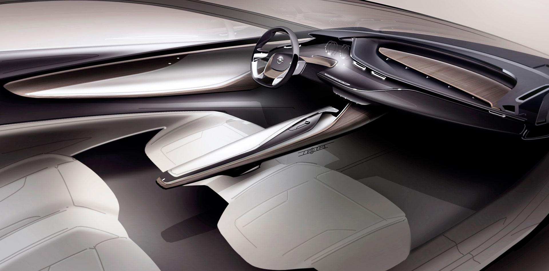 Opel Monza Concept - Interior Design Sketch - Car Body Design