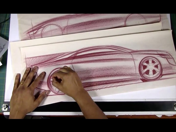 Drawing Cars on Newsprint Paper #2