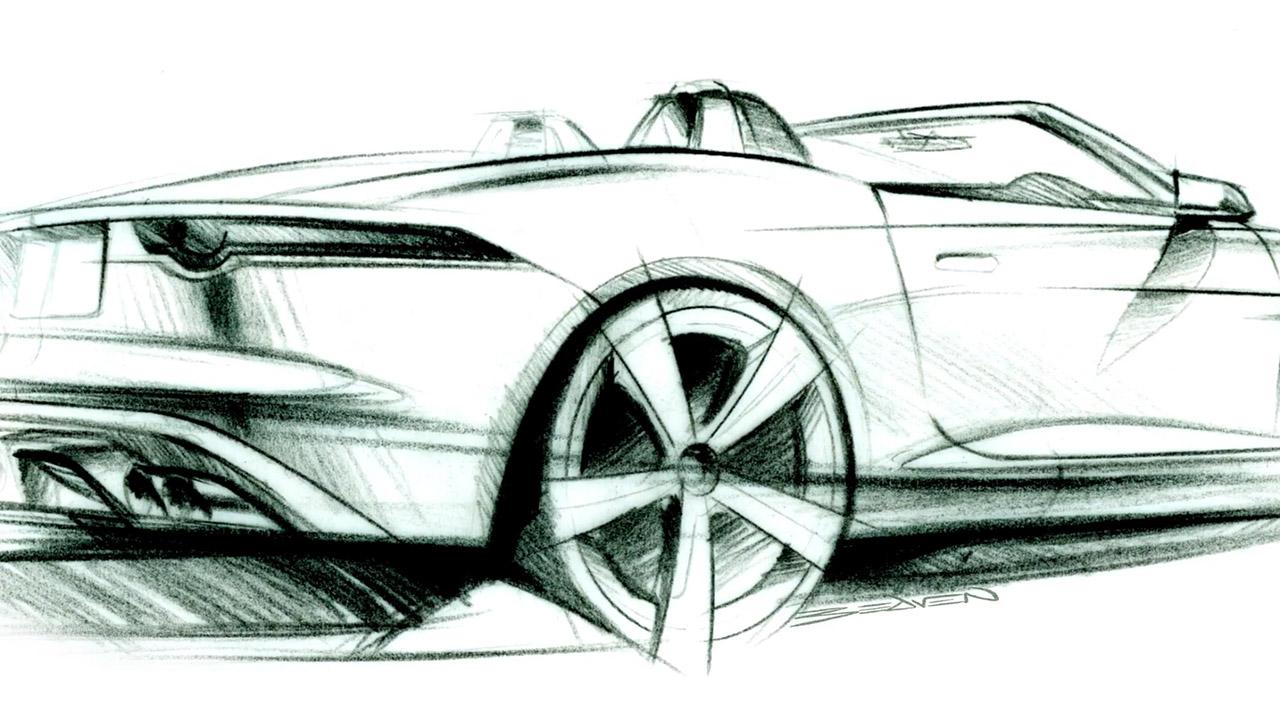 Jaguar F Type Design Sketch Car Body Design