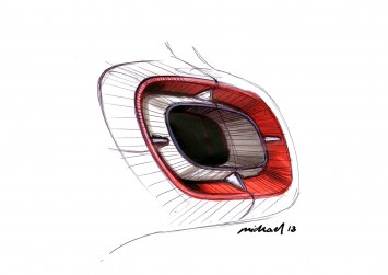 Smart Forjoy Concept Tail Lamp design sketch