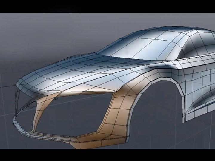 Audi R8 3D modeling tutorial - Car Body Design