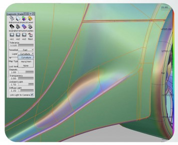 Autodesk Alias 2014 - Layered Diagnostic Shaders