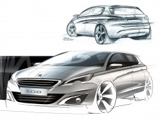 Design Sketch Gallery: the new Peugeot 308