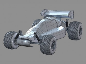 RC buggy car free 3D model
