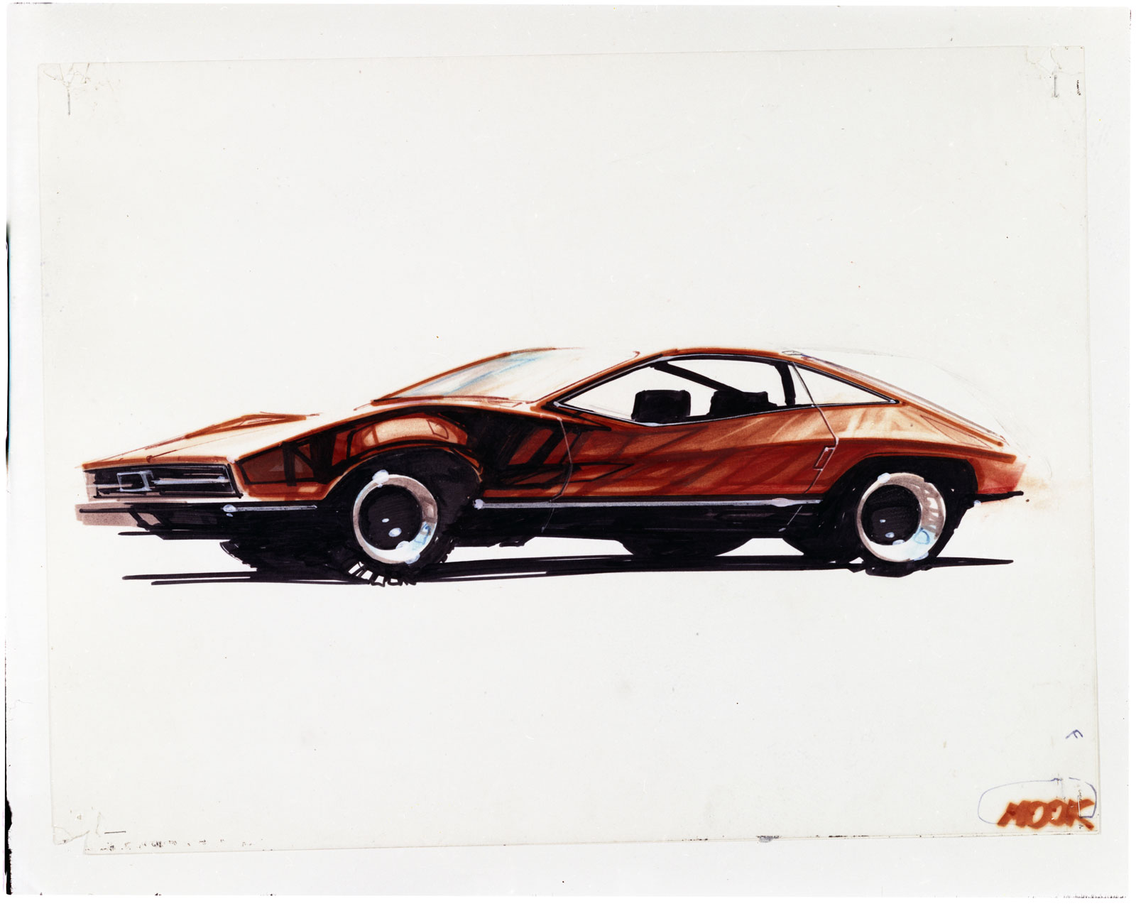 1974 Mustang II Design Sketch