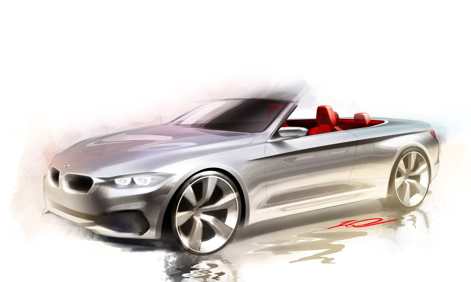 Bmw 4 Series Convertible Design Sketch Car Body Design