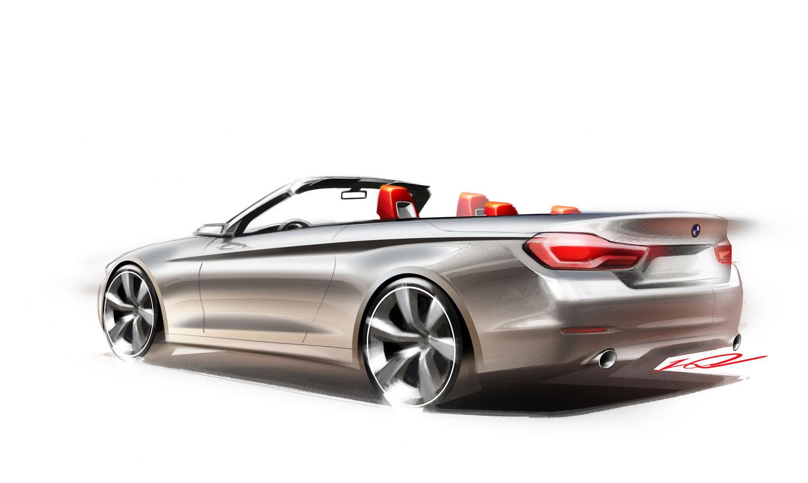 Bmw 4 Series Convertible Design Sketch Car Body Design