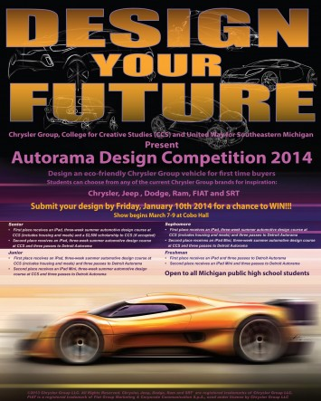 Chrysler Design Competition 2014 poster