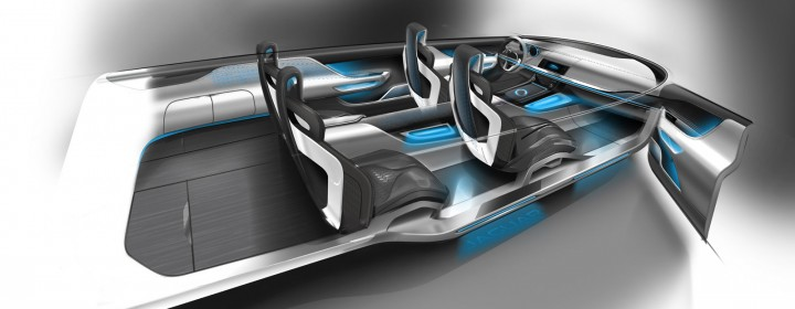 Jaguar C-X17 Concept - Interior Design Sketch