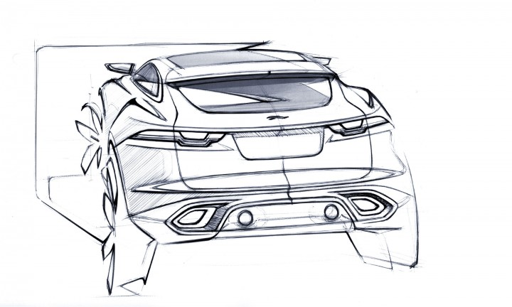 Jaguar C-X17 Concept design Sketch