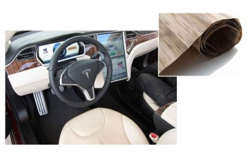 Matrec - Car interior made with recycled banana tree wood