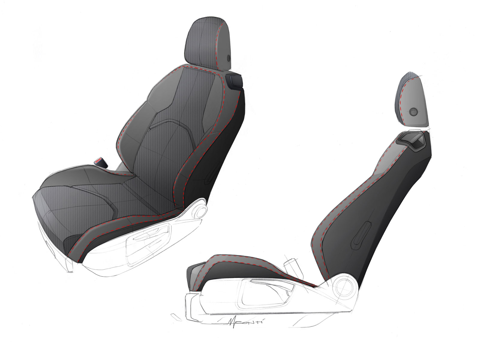 Seat Leon St Interior Seat Design Sketch Car Body Design