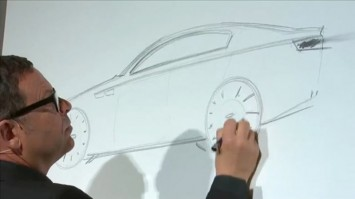 Peter Schreyer sketching the Kia K9