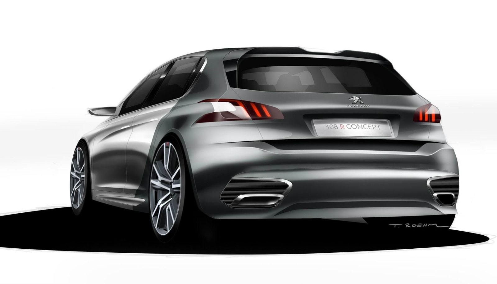 Peugeot 308 R Concept - Design Sketch