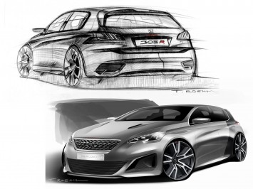 Peugeot 308 R Concept - Design Sketches