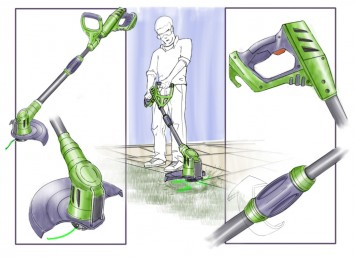 SketchBook Pro Course - Weed Trimmer Marker Texture Project