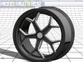 Modeling a 3D 20-inch rim in SolidWorks