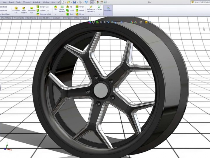 Modeling A 3d 20 Inch Rim In Solidworks Car Body Design