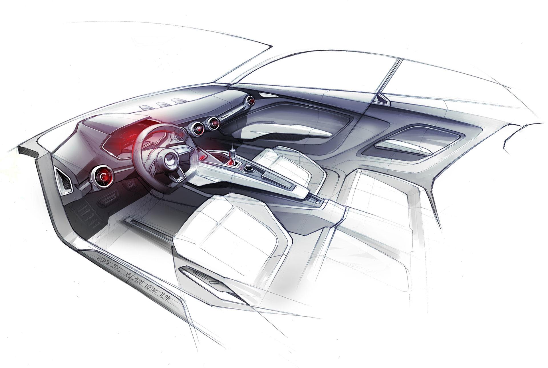 Audi Two Door Crossover Concept Interior Design Sketch Car Body