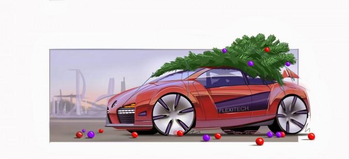 Christmas Car by Bernie Walsh for Flexitech