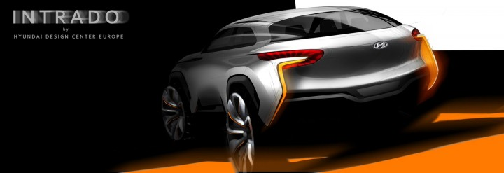 Hyundai Intrado Concept Design Sketch
