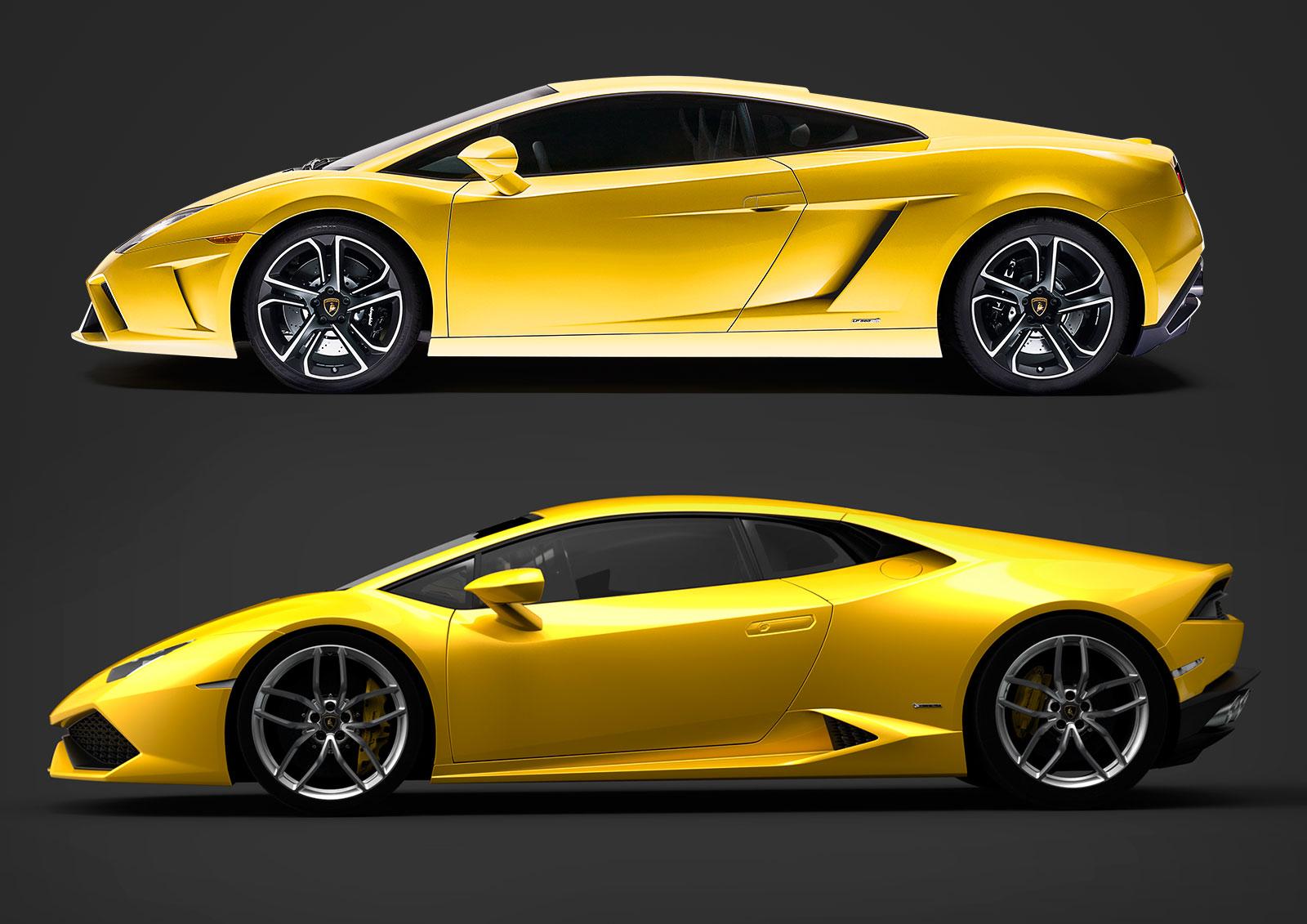 Lamborghini Gallardo And Huracan Design Comparison Car Body Design