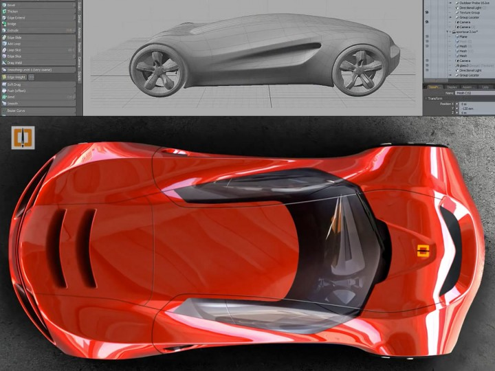 Modeling a concept car in ZBrush 4R6