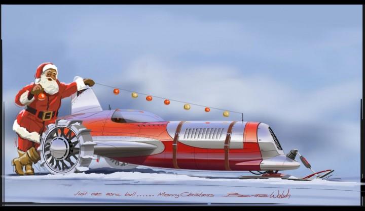 Santas Sleigh 2012 - Art by Bernie Walsh