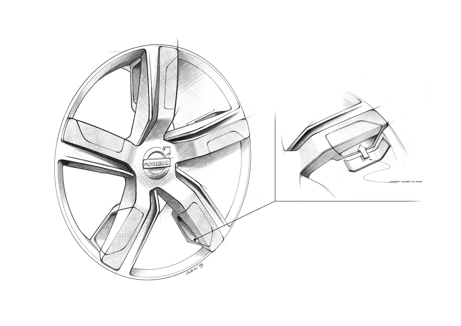 Volvo Concept Xc Coupe Wheel Design Sketch Car Body Design