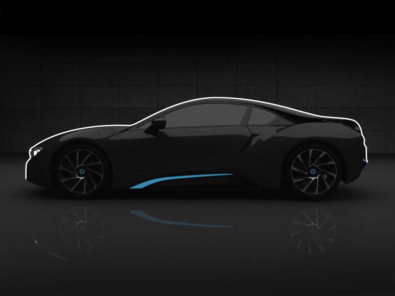 Bmw I8 Side View Design Car Body Design