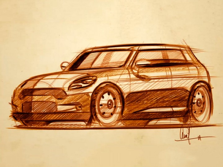MINI Cooper design sketching video