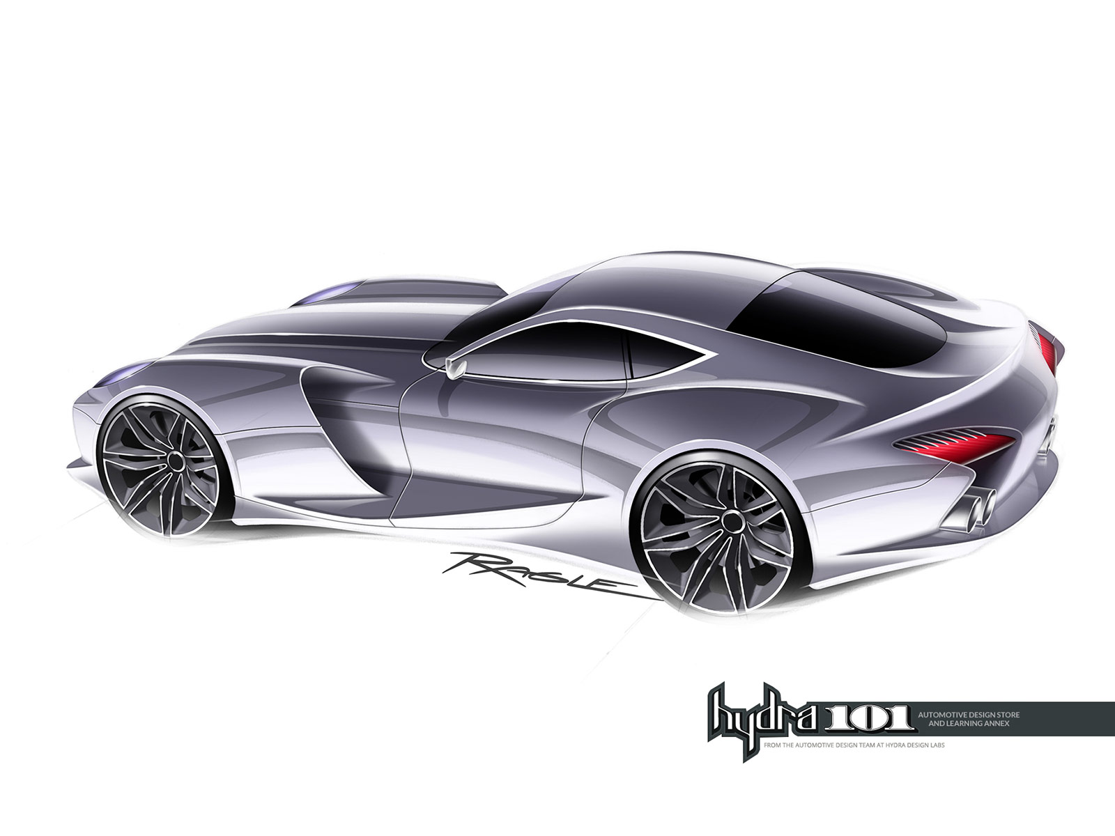 Supercar Design Sketch By Gary Ragle Car Body Design