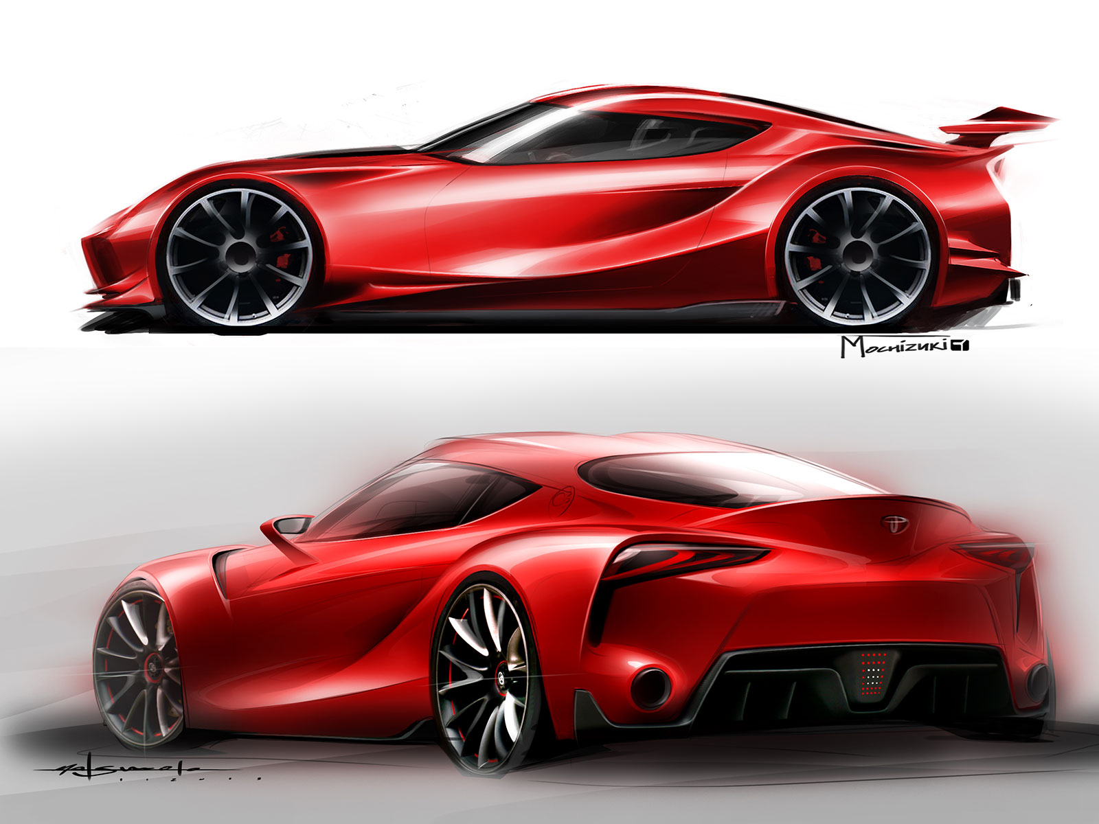 Toyota Ft 1 Concept Design Sketches Car Body Design