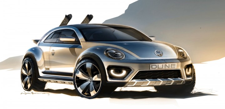 Volkswagen Beetle Dune Concept Design Sketch
