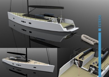 Gladio Sailing Boat Concept by Filippo Cima - Exterior Renderings
