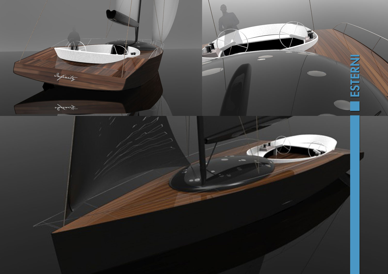 Infinity Sailing Boat Concept - Exterior Renderings