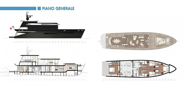 Eos 80 Yacht Concept - General Layout