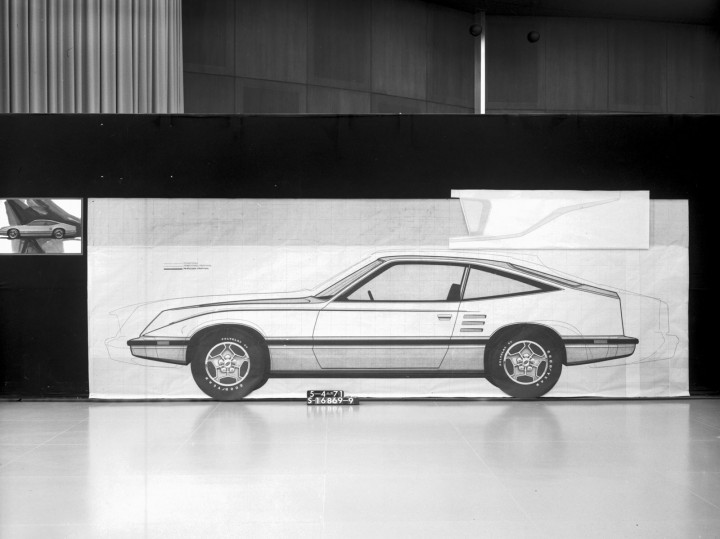 1971 Mustang II - Tape Drawing