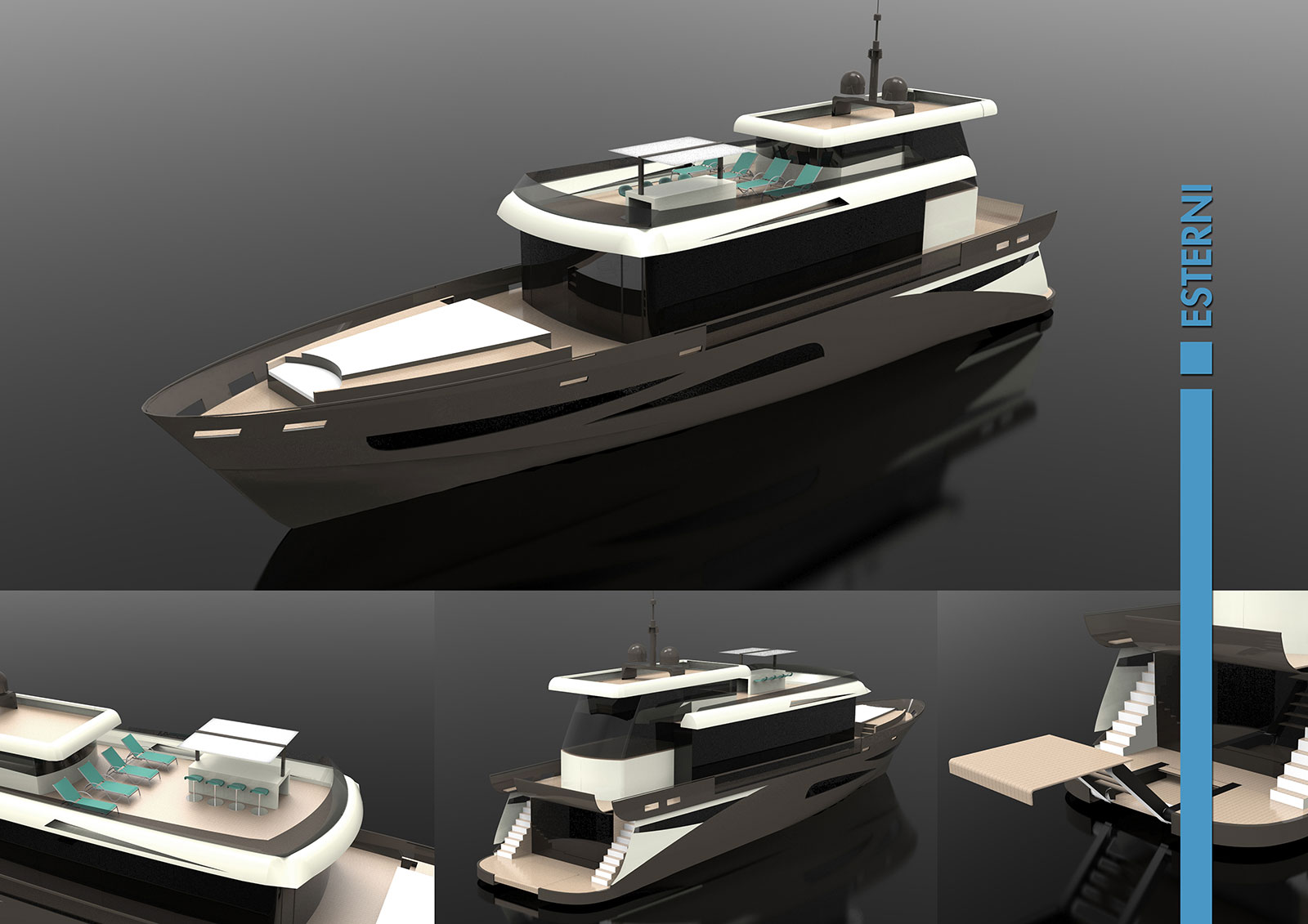 Eos 80 Yacht Concept - Exterior renderings