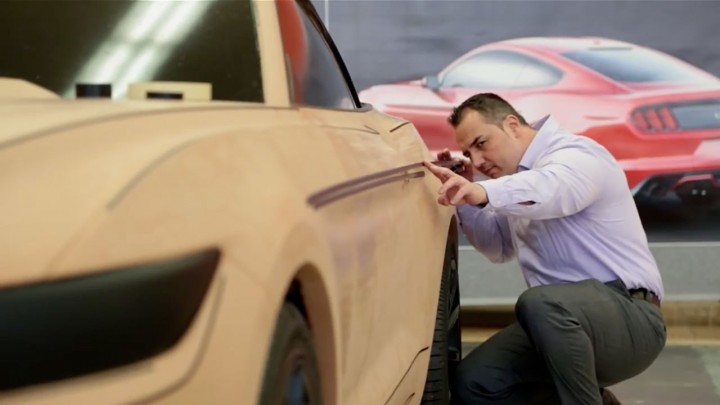 Ford Designer Kemal Curic - Tape on 2015 Mustang clay model