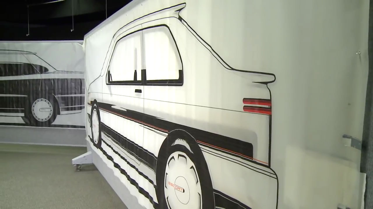 Ford Escort Concept - Tape Drawing