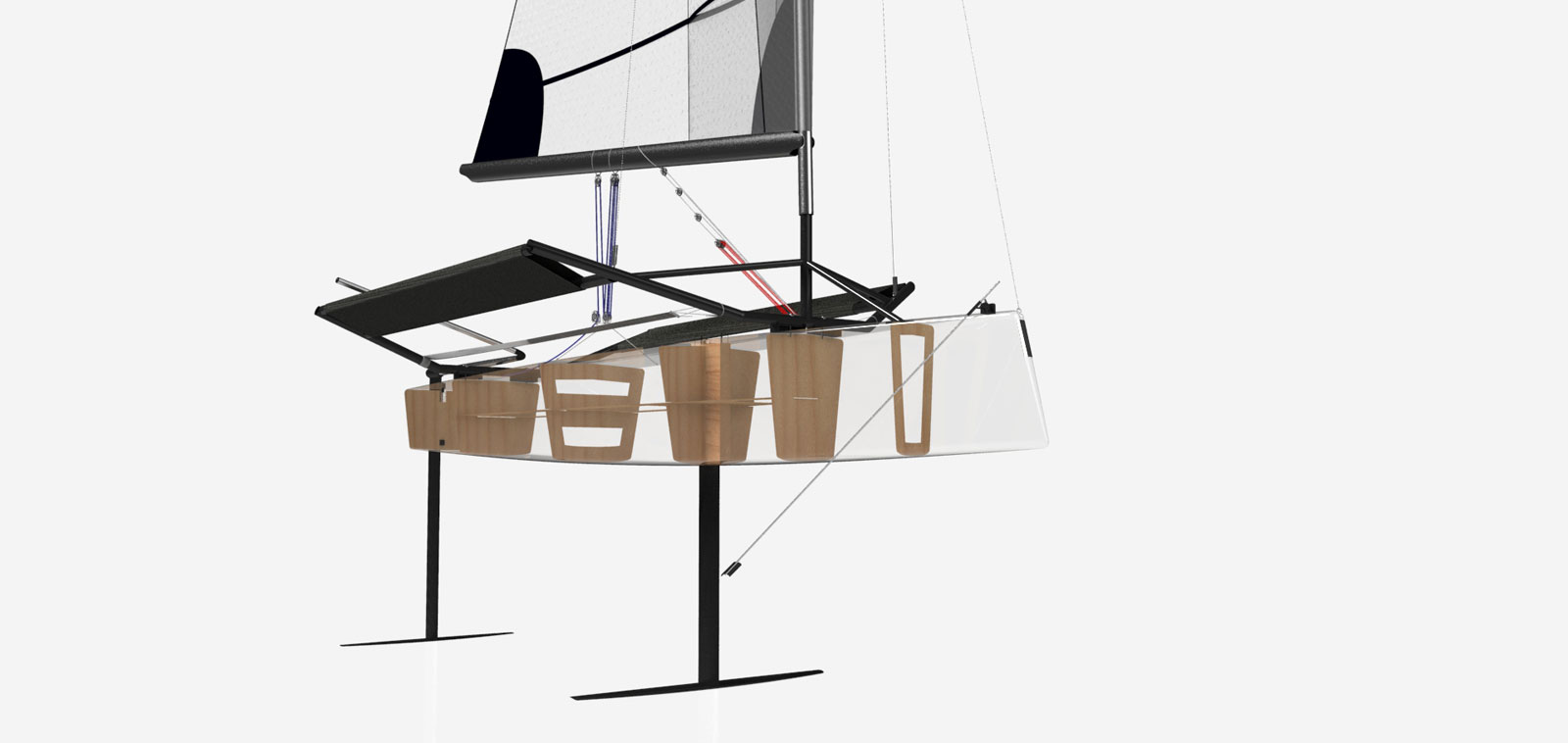 Hydrofoil Sailing Boat Prototype Structure