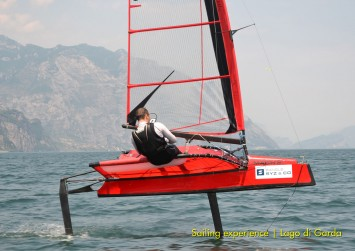 Master in Yacht Design 2013 - Foiling sailing experience on Lake Garda