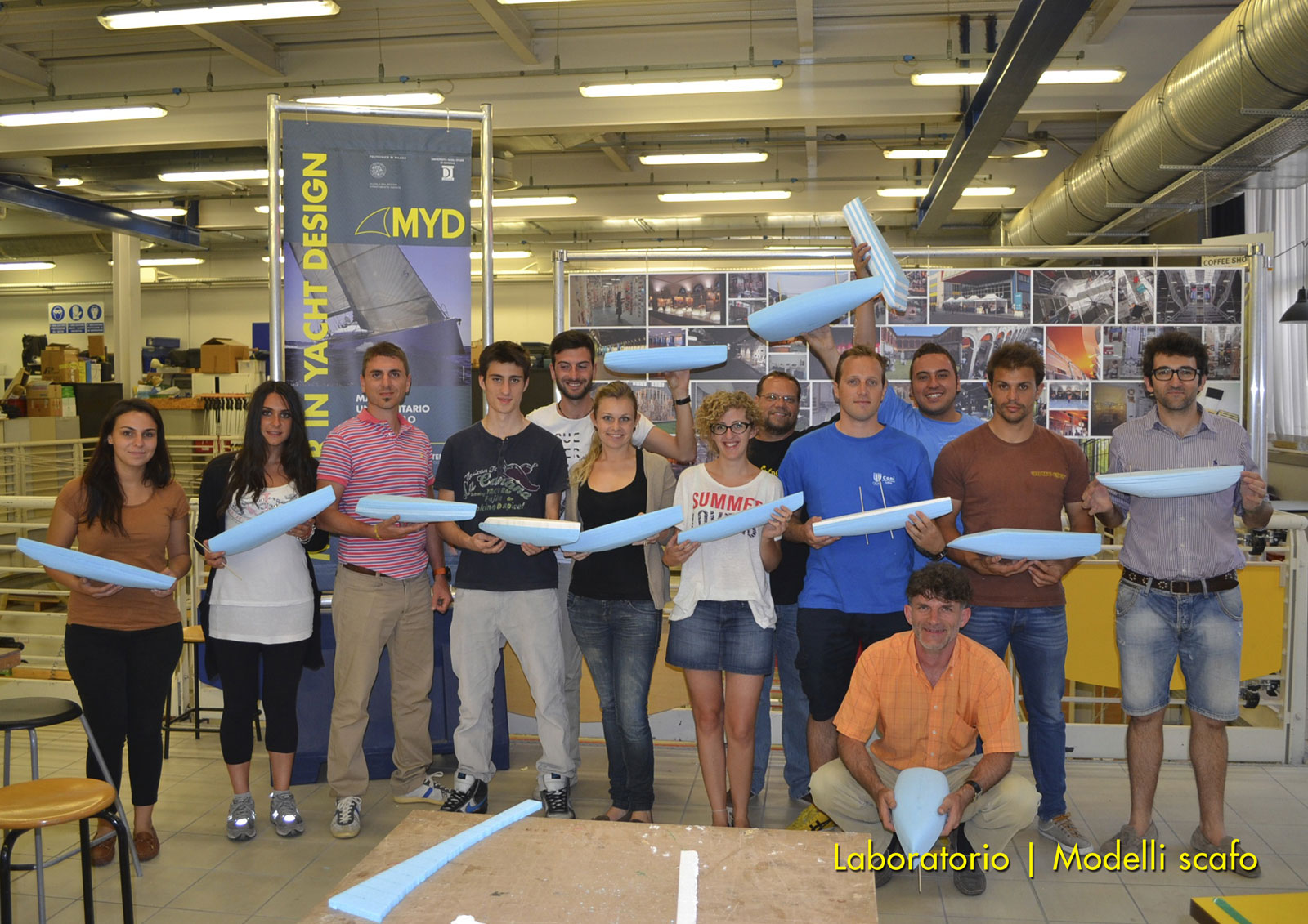 Master in Yacht Design 2013 - Hull scale models workshop