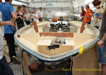 Master in Yacht Design 2013 - Students visit Riva Shipyard